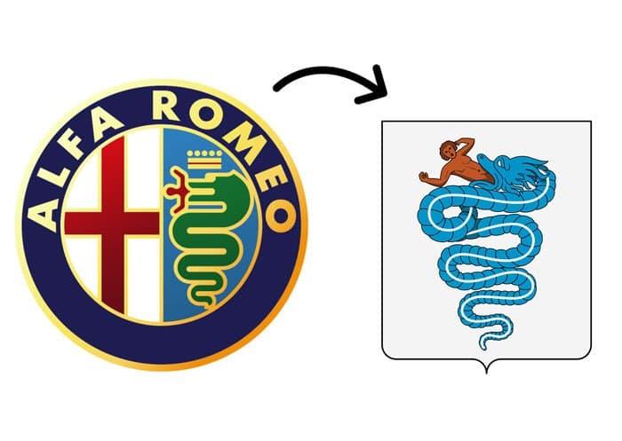hidden meaning logo alfa romeo