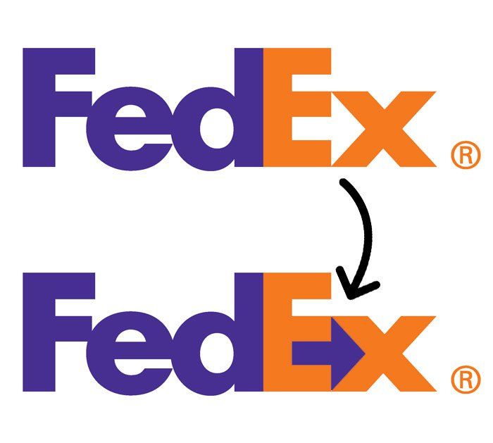 hidden meaning logo fed ex