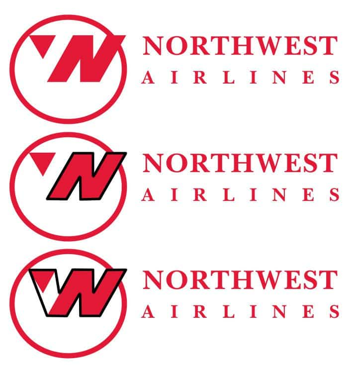 hidden meaning logo northwest airlines