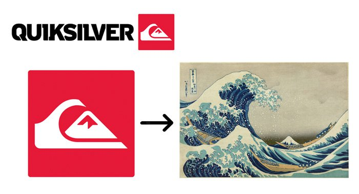 hidden meaning logo quicksilver