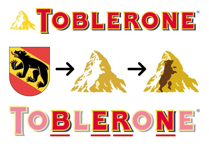 hidden meaning logo toblerone