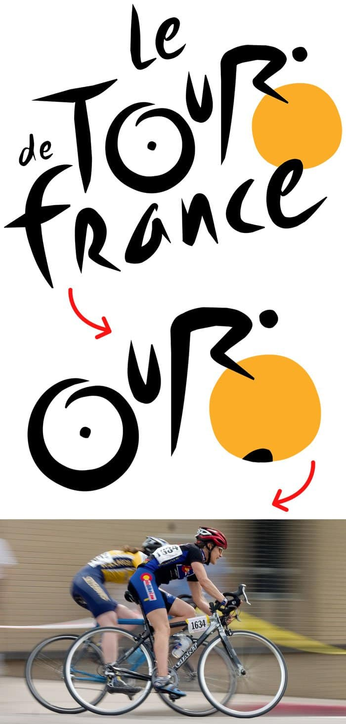 hidden meaning logo tour de france