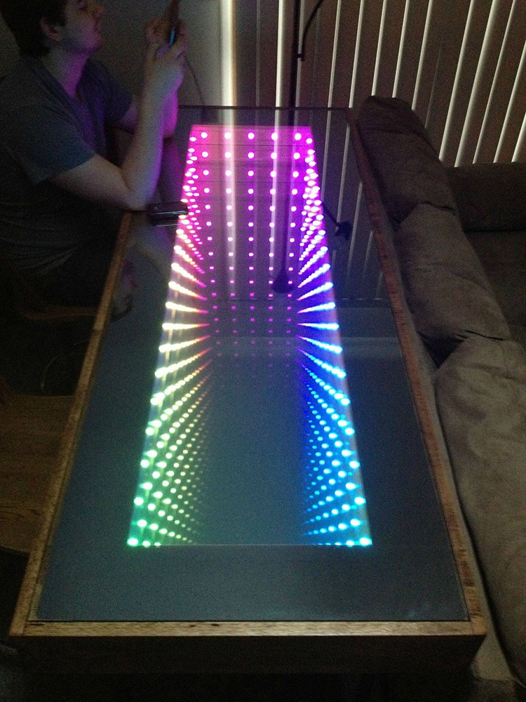 infinity table multicolor