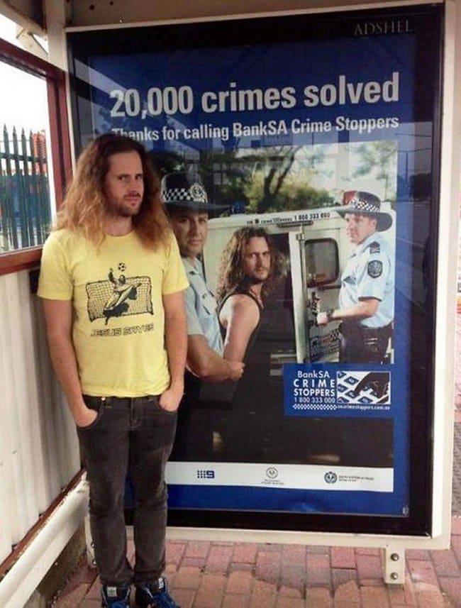 matrix glitches crime poster doppelganger