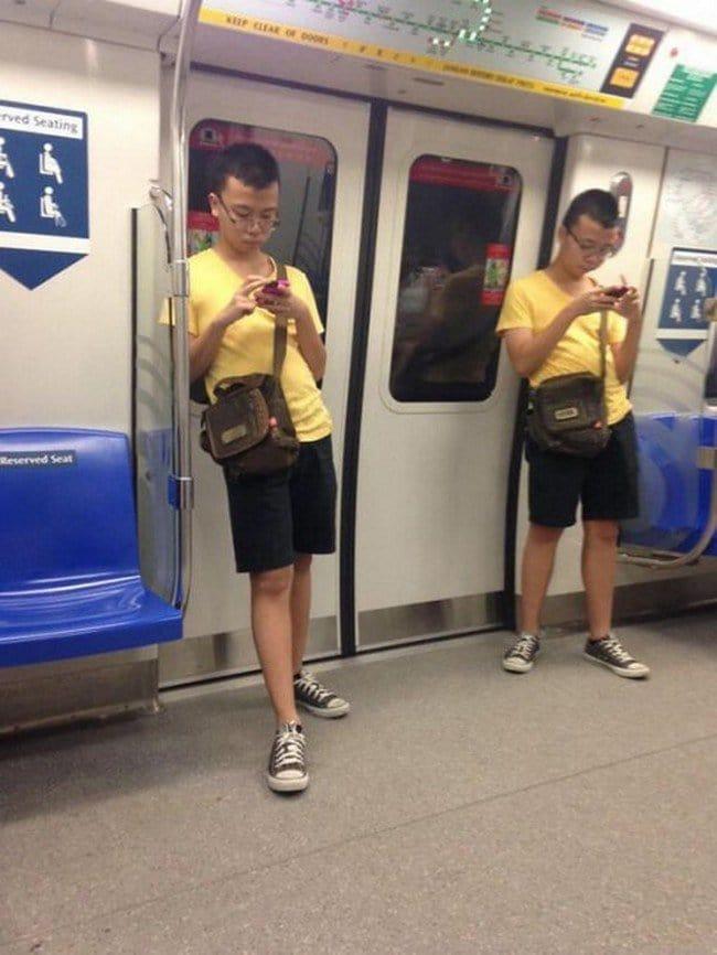matrix glitches yellow t shorts men