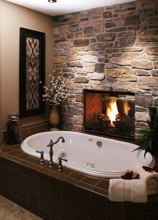 millionaire wishlist items bathroom fireplace