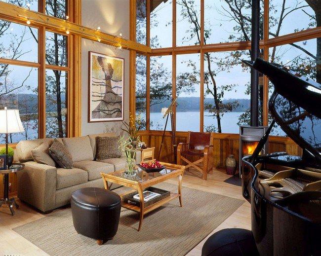 millionaire wishlist items glass wall lake home