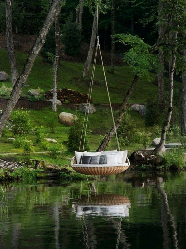millionaire wishlist items over water swing