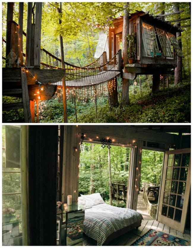 millionaire wishlist items secluded intown treehouse