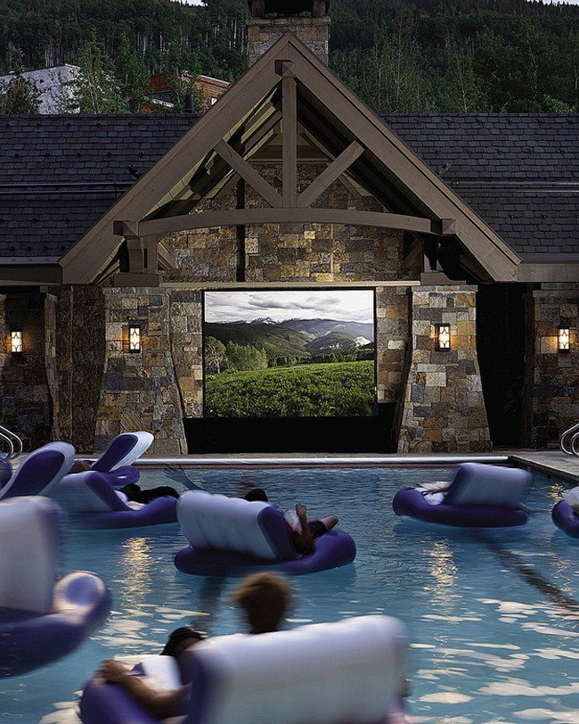 millionaire wishlist items swimming pool home theater