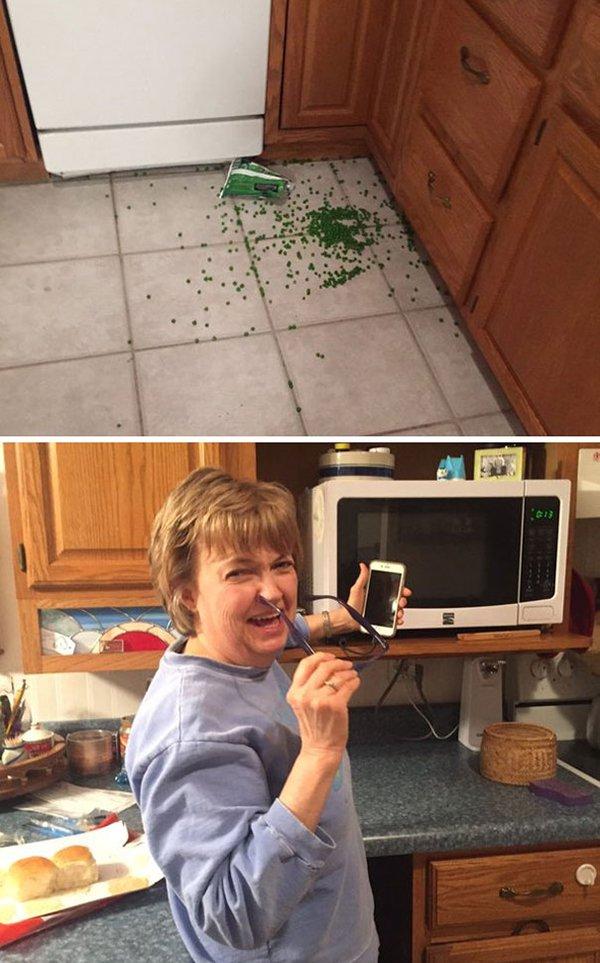 mom jokes humor peed on the floor