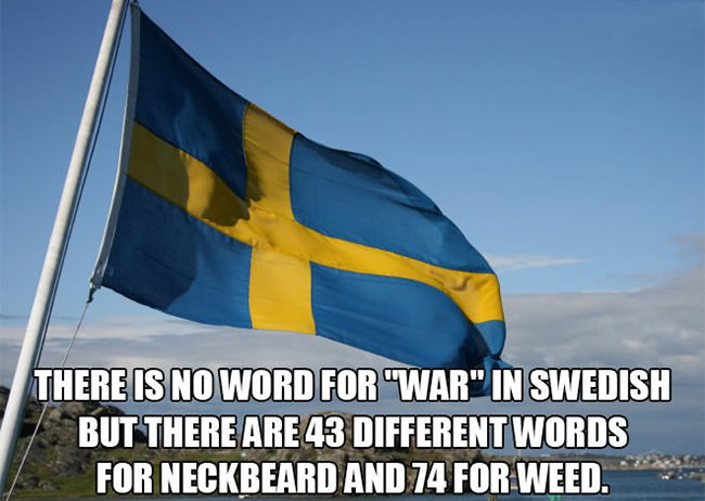 no word for war in swedish