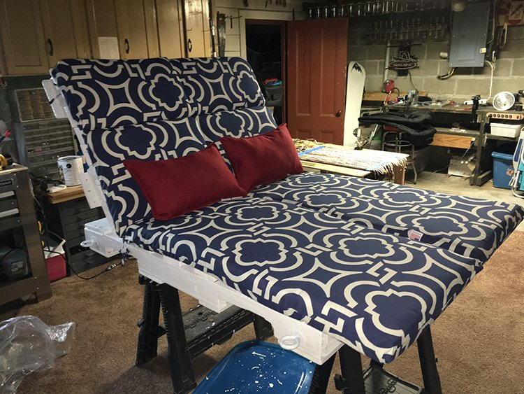 padding and pillows