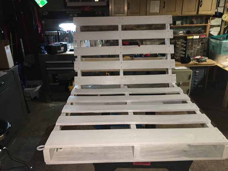pallets ready for paint