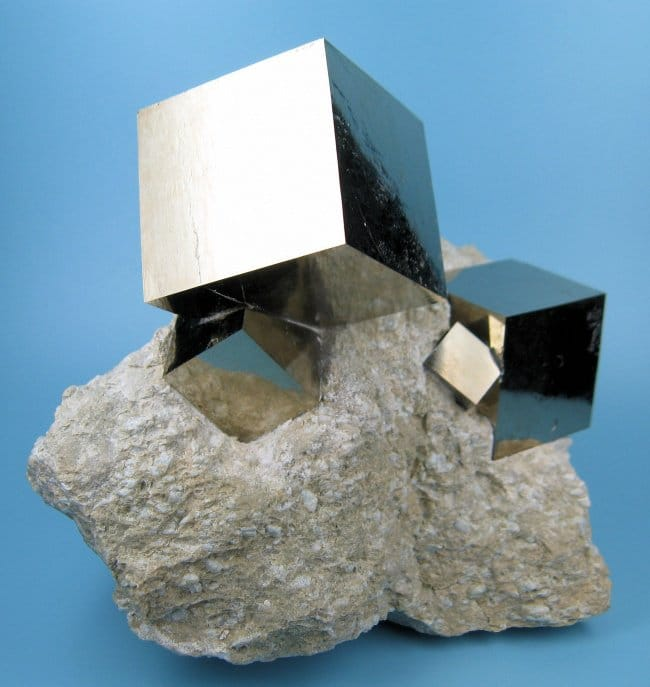 perfect cubes of pyrite