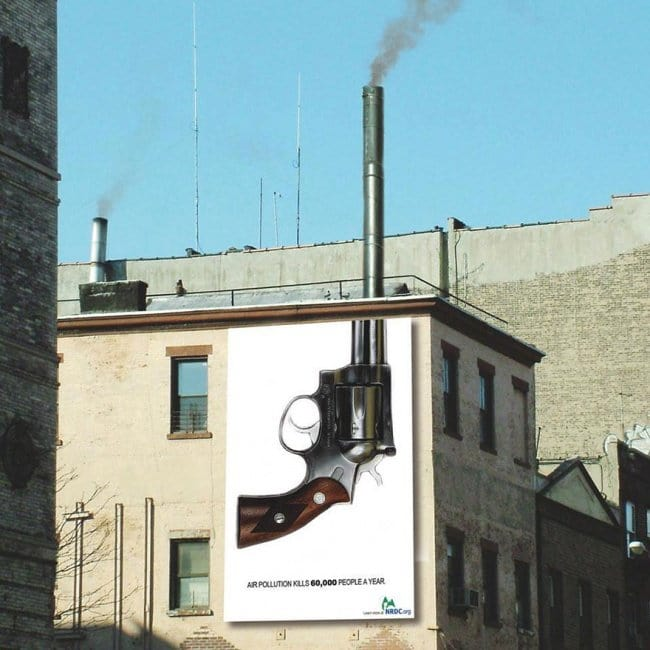 powerful advertising air pollution