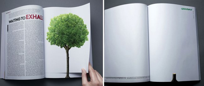 powerful advertising destroying the forest