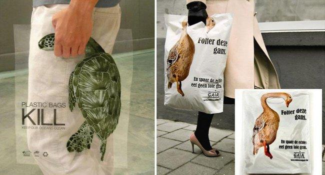 powerful advertising plastic bags kill
