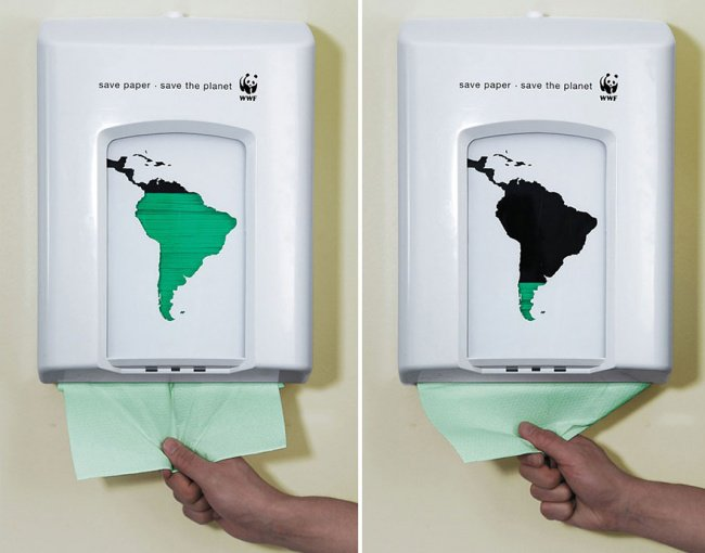 powerful advertising save paper