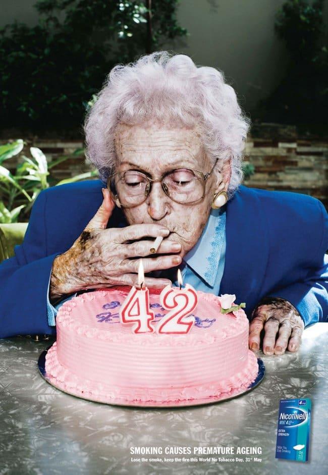 powerful advertising smoking causes premature aging