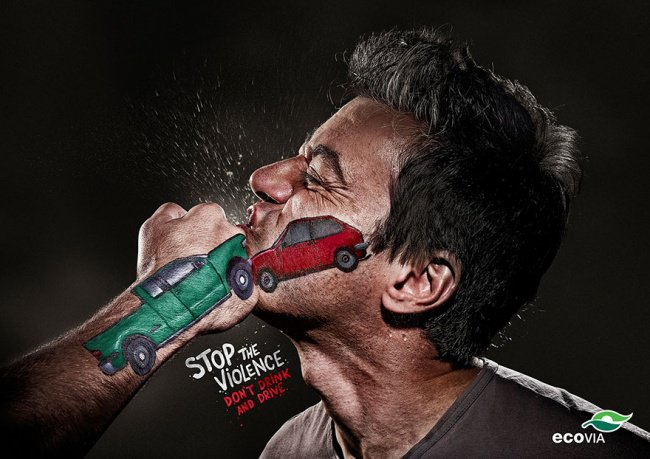 powerful advertising stop violence dont drink and drive