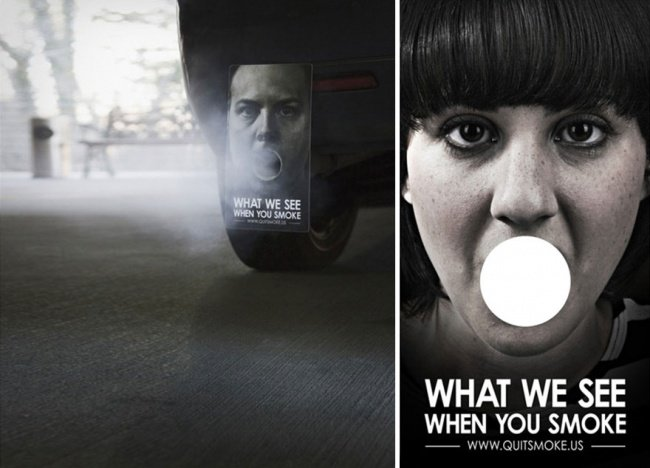 powerful advertising what we see when you smoke
