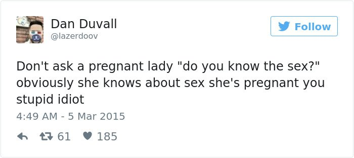 pregnancy tweets do you know the sex