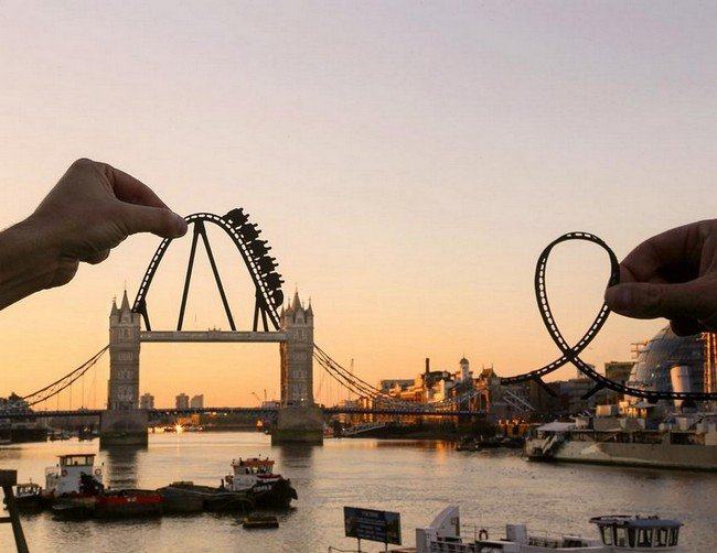 rich mccor paper cutout art roller coaster