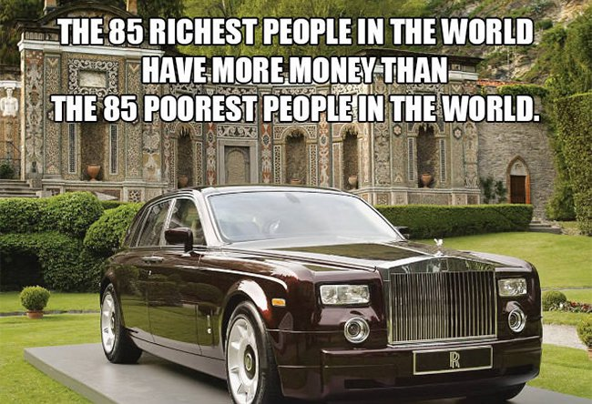 richest people have more money than poorest people