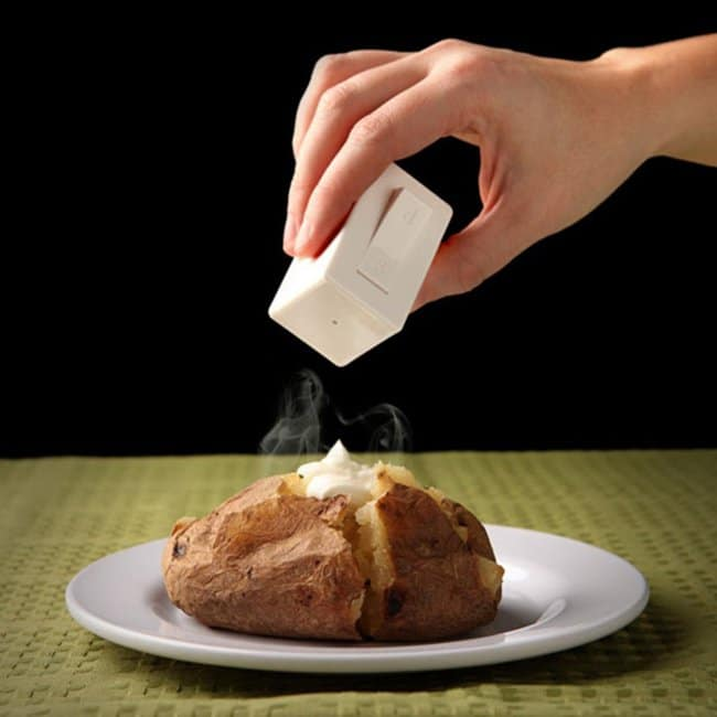 salt and pepper shaker with switch