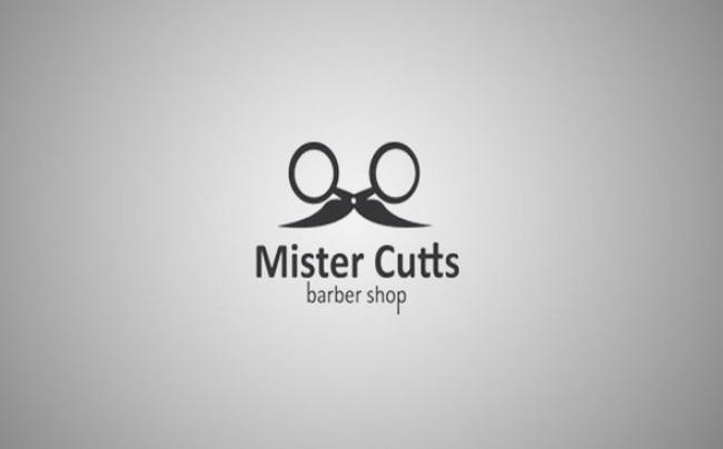 self explanatory creative logos barber