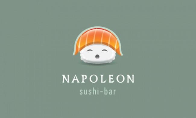 self explanatory creative logos napoleon sushi