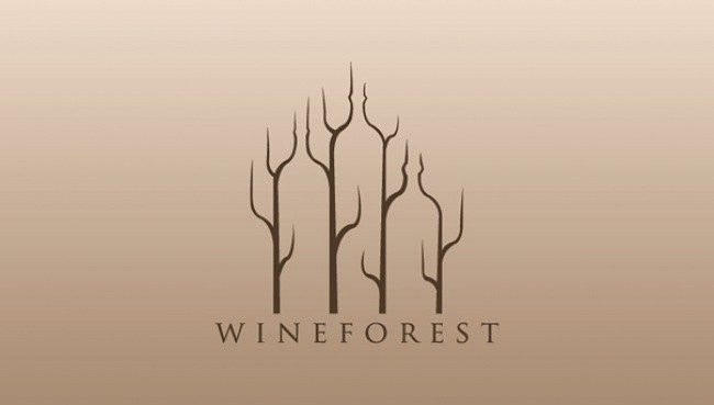 self explanatory creative logos wineforest