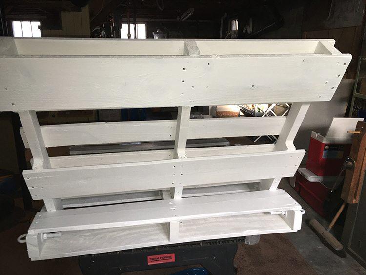shot of back pallets
