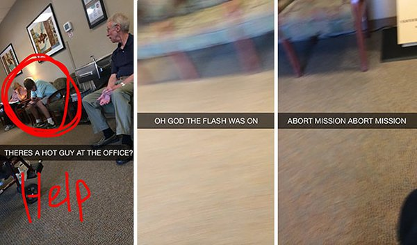 snapchat fails hot guy flash was on