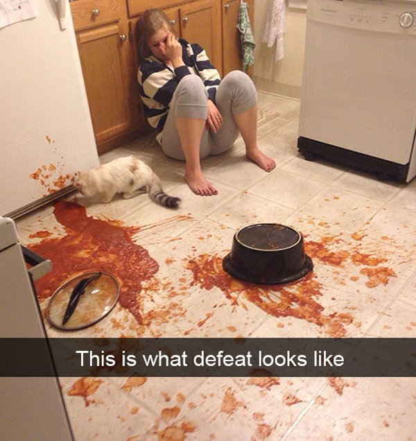 snapchat fails sauce all over floor