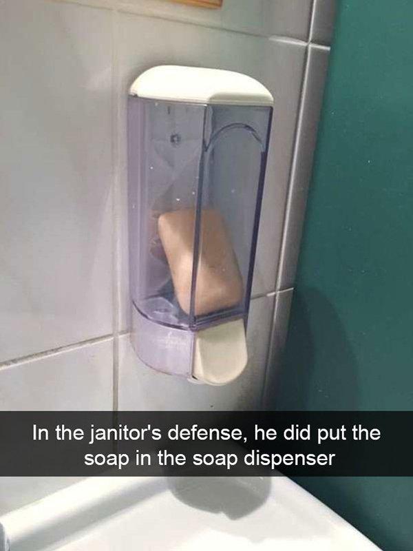 snapchat fails soap in dispenser
