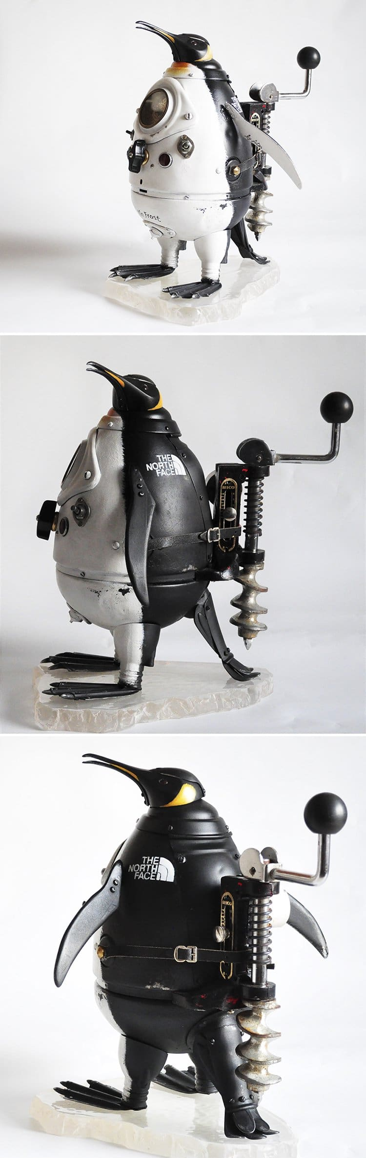 steampunk sculptures royal penguin