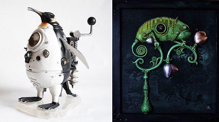 steampunk-sculptures-trash-arturas