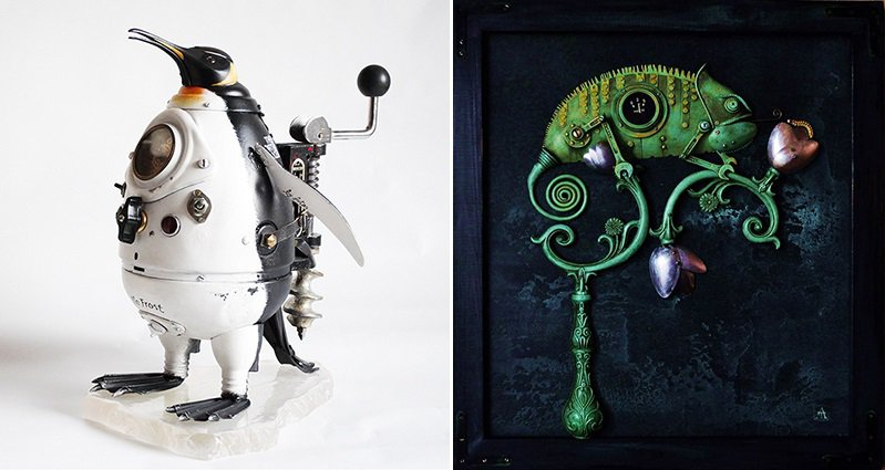 steampunk-sculptures-trash-arturas