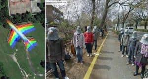 strange things google maps