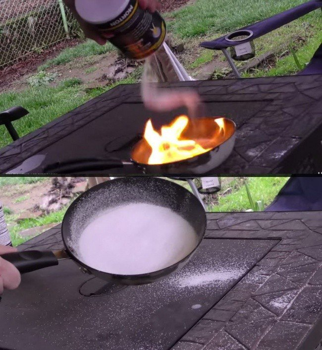 table salt hacks salt pan fire