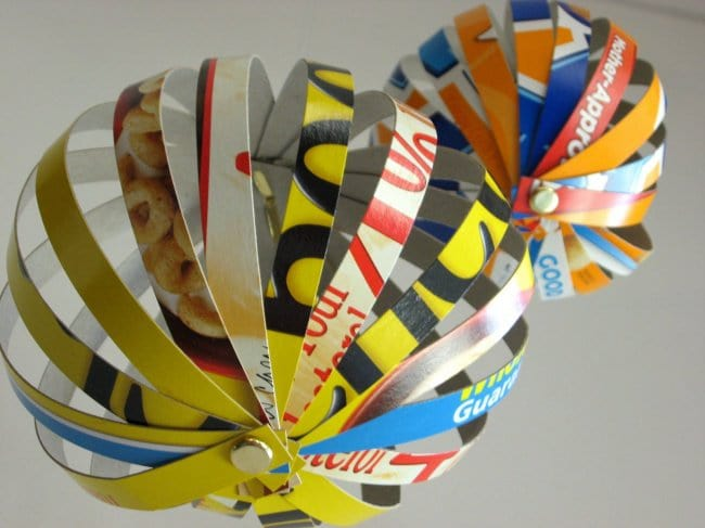 transform boxes cereal box globes