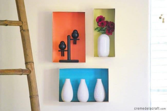 transform boxes decorative shelves