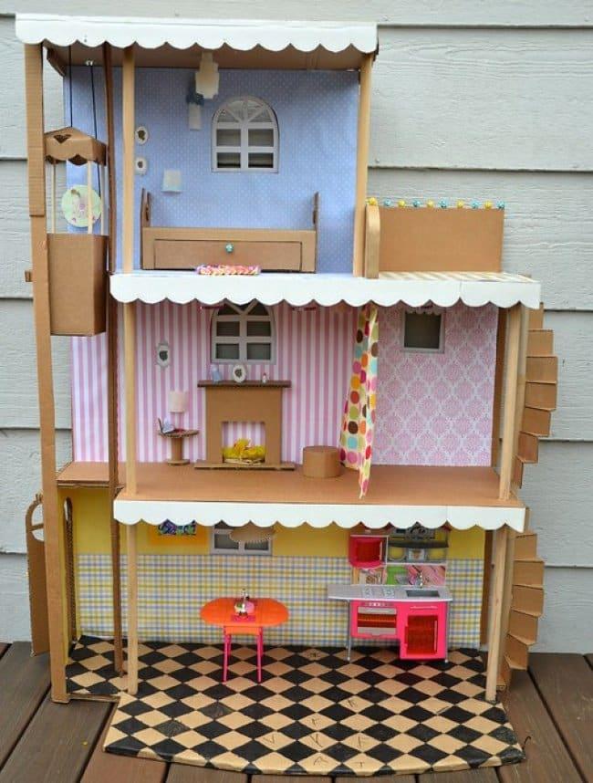 transform boxes dollhouse