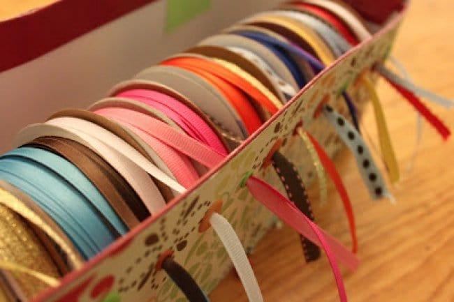 transform boxes ribbon storage
