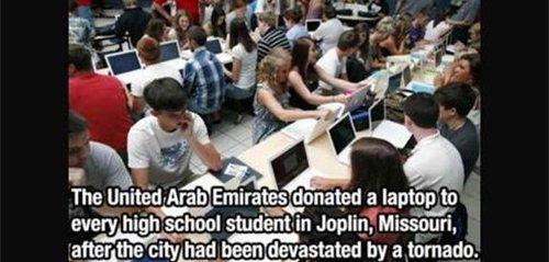 uae donated laptops joplin fact