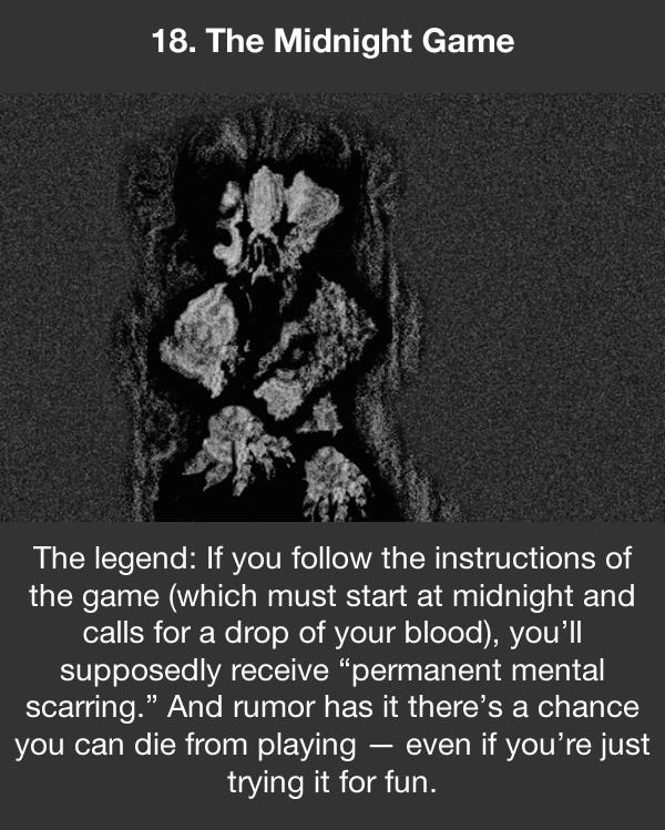 urban legends the midnight game