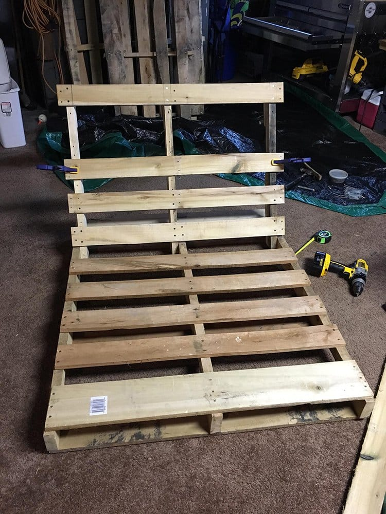 use wooden clamps