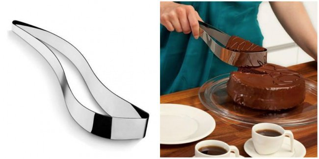 useful inventions cake holder knife